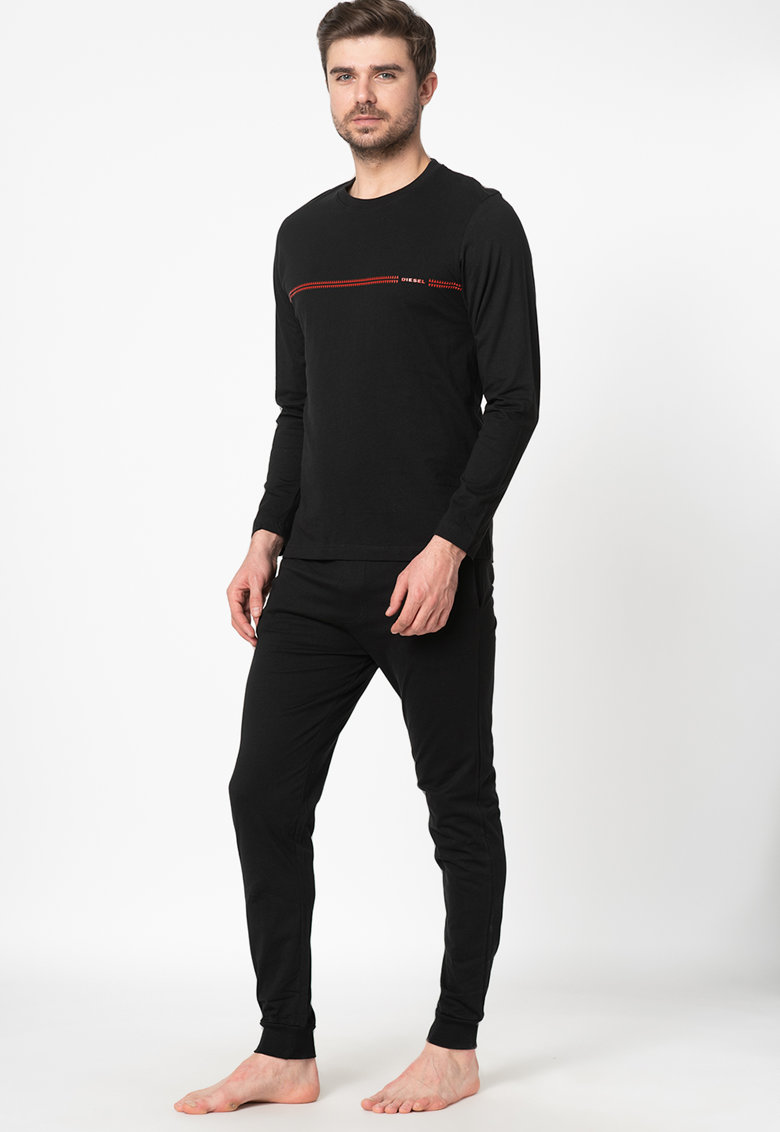 Pijama de bumbac cu maneci lungi Justin-Julio