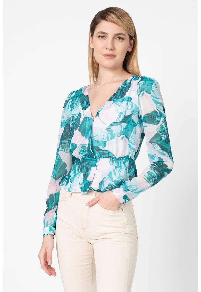 Bluza cu model floral Georgette imagine