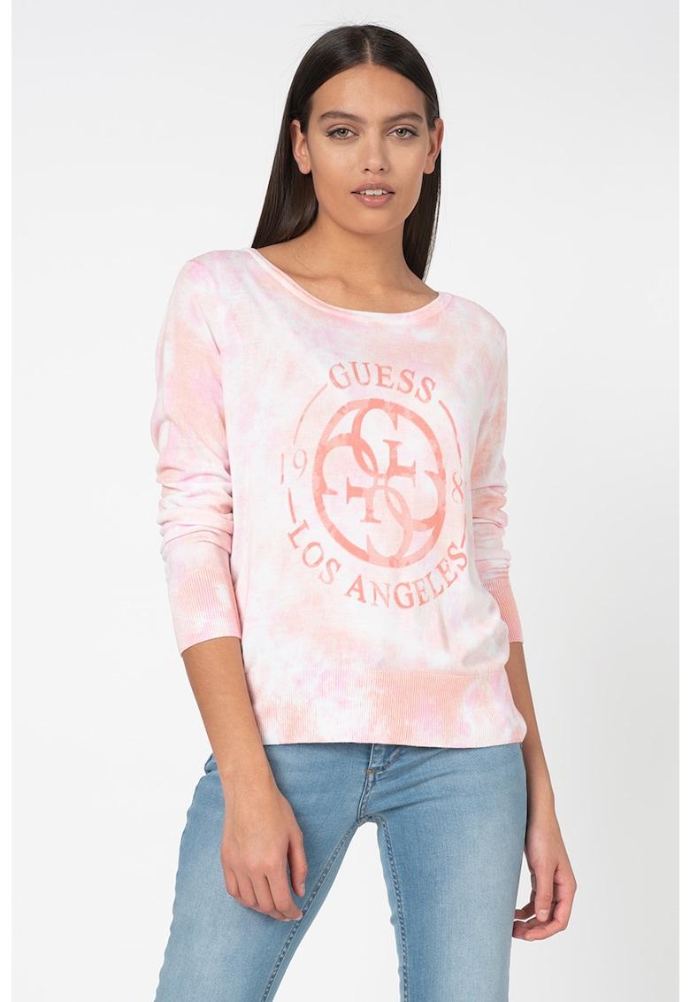 Bluza din tricot fin cu model logo