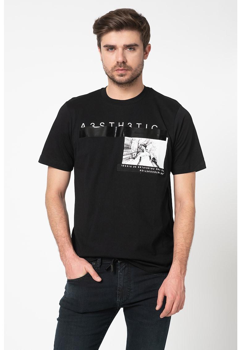 Tricou cu decolteu la baza gatului T-Just Bărbați imagine