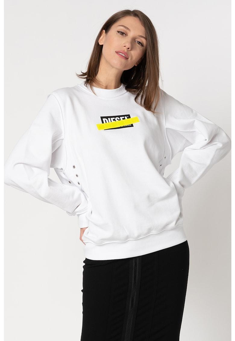 Bluza sport cu imprimeu logo contrastant Lyany