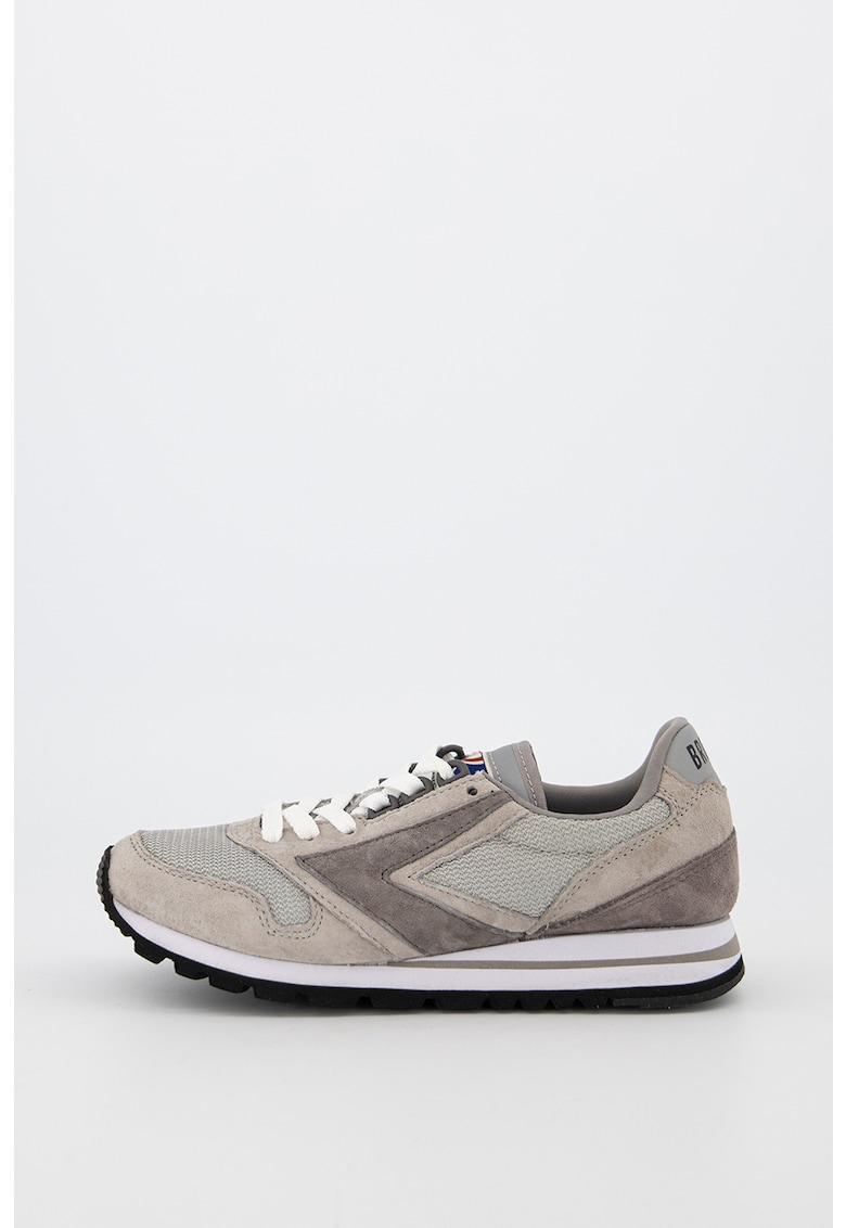 Pantofi sport din piele intoarsa ecologica cu branturi detasabile Chariot