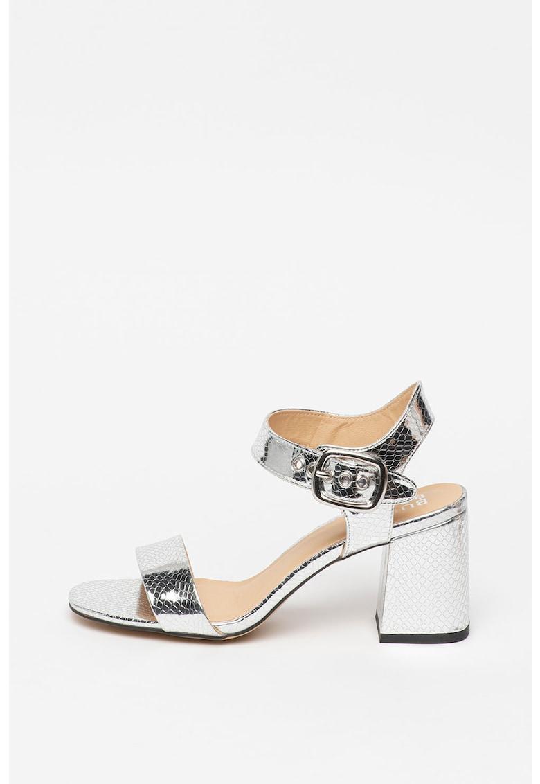 Sandale de piele ecologica - cu aspect metalizat poza fashiondays