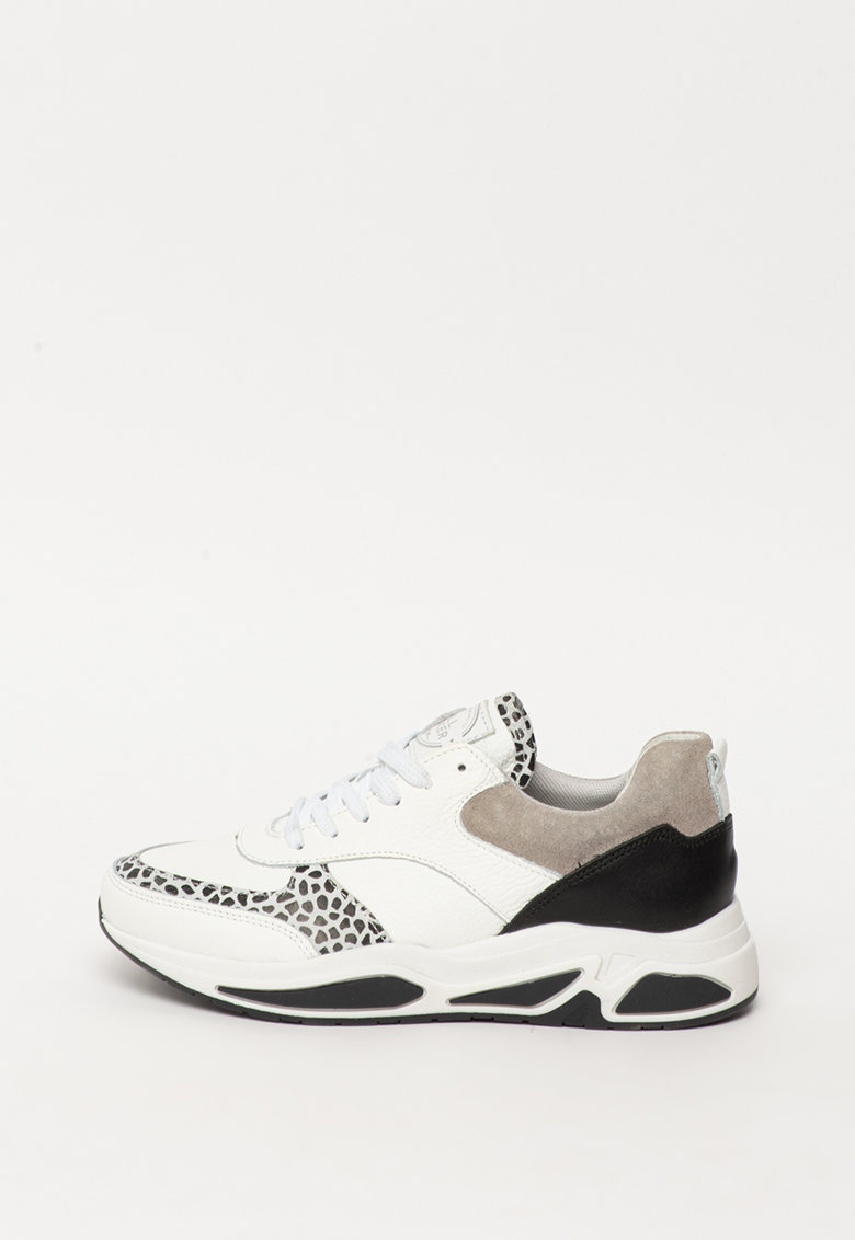 Pantofi sport din piele si piele intoarsa cu animal print imagine