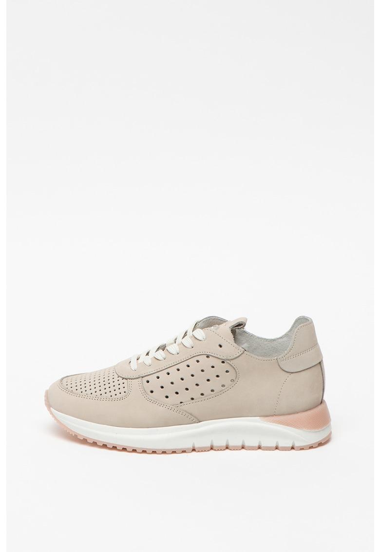 Pantofi sport de piele - cu perforatii