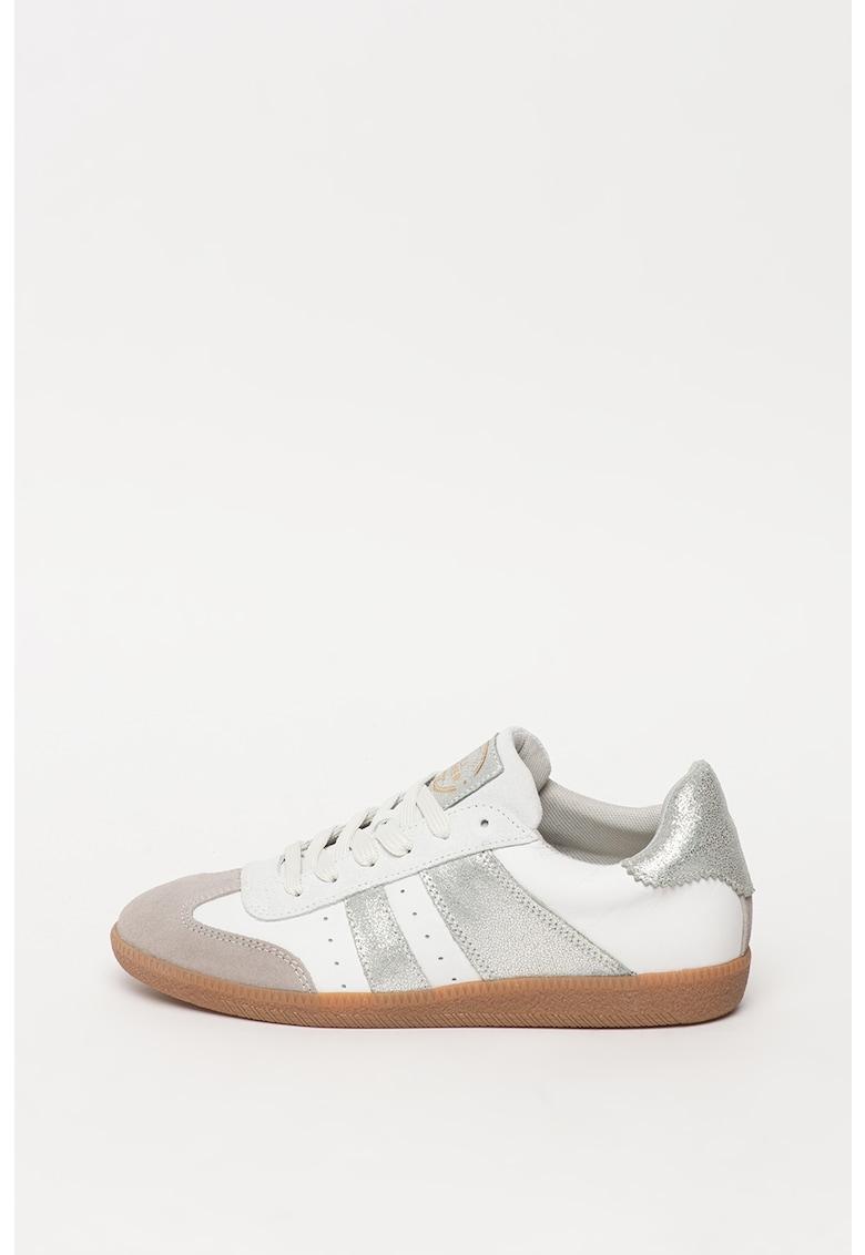 Pantofi sport din piele si piele intoarsa