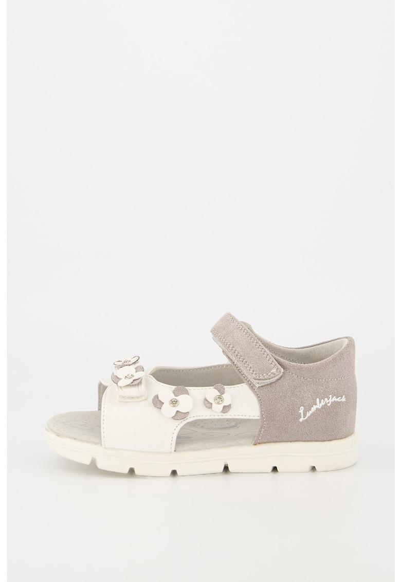 Sandale cu inchidere velcro si aplicatii florale Whippy Lumberjack fashiondays.ro