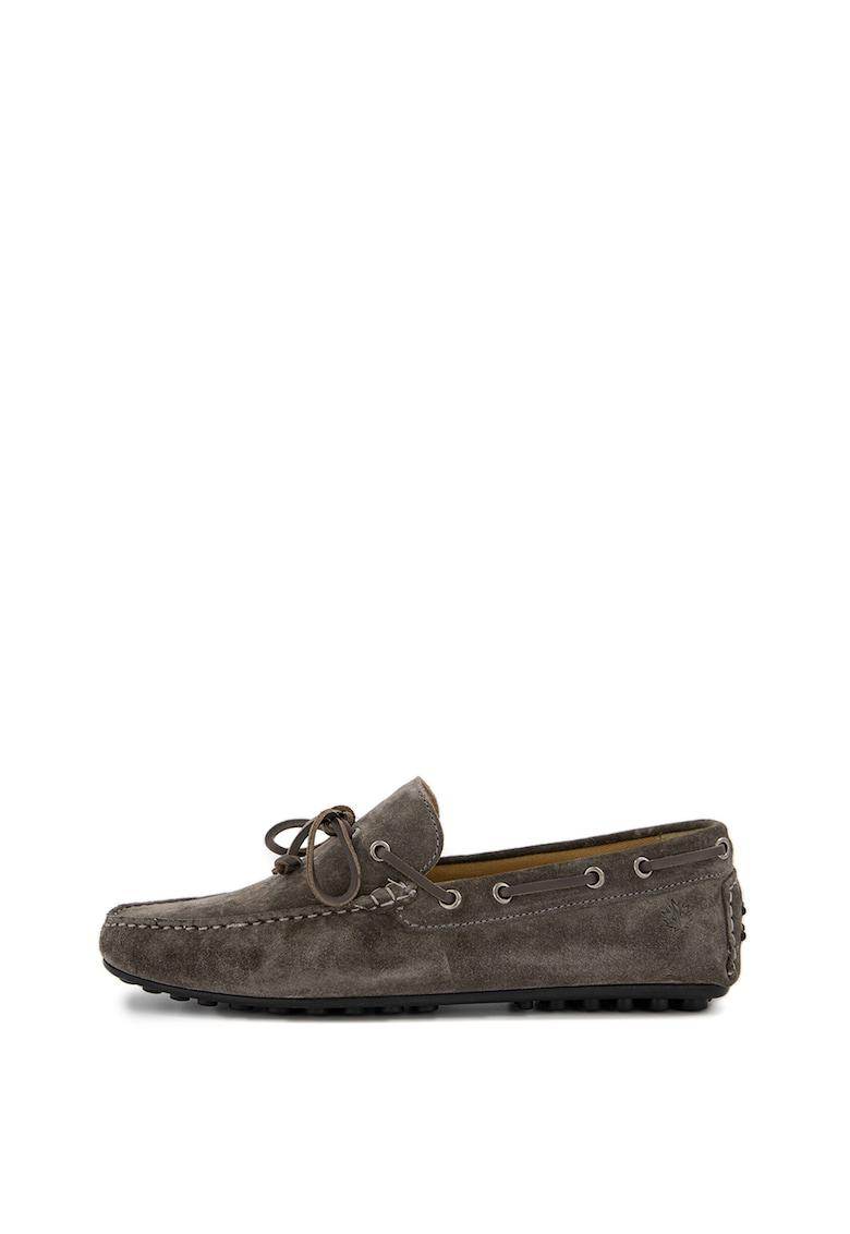 Pantofi loafer de piele intoarsa Drive