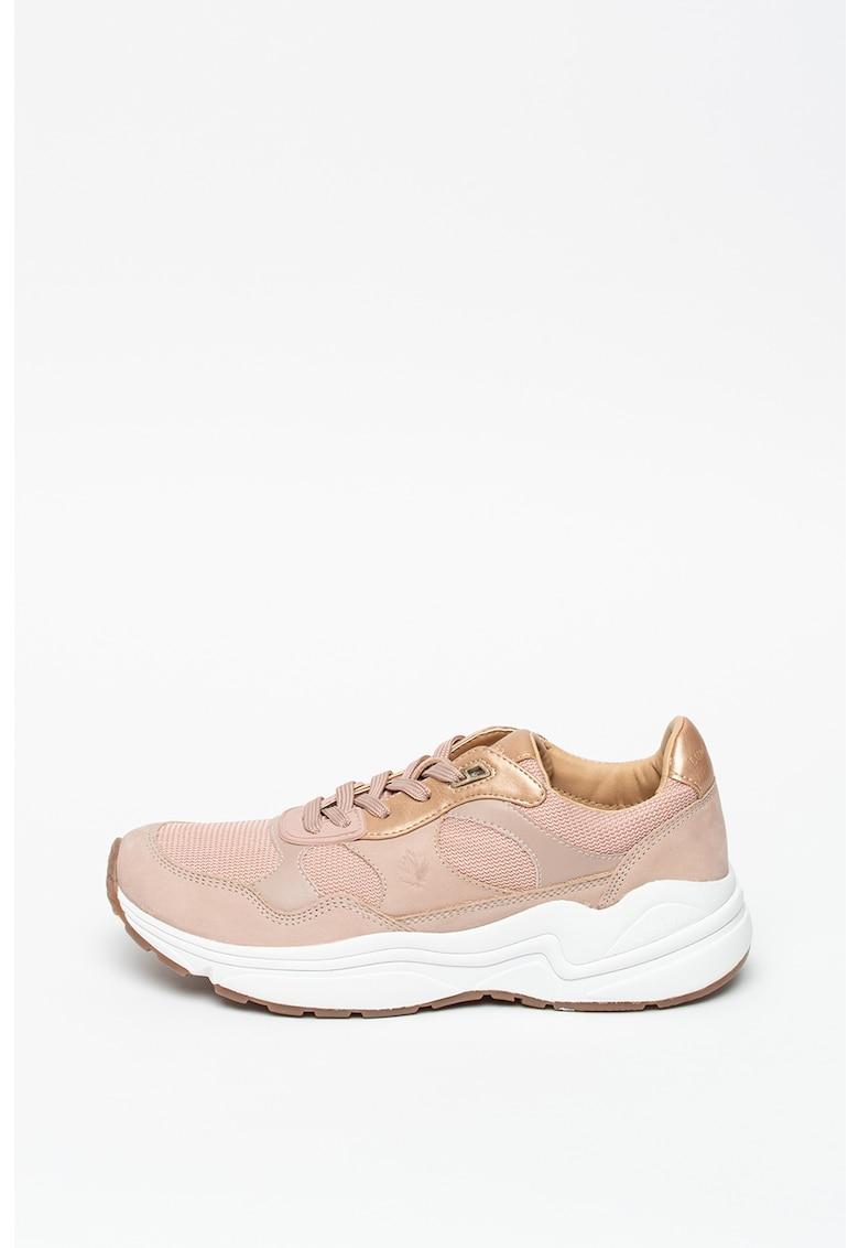 Pantofi sport de piele intoarsa - cu insertii de plasa Drew poza fashiondays