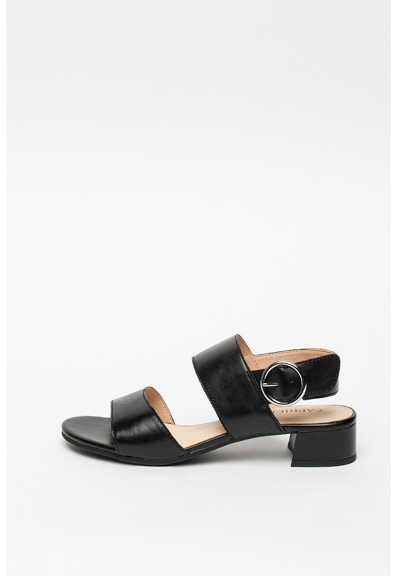 Sandale de piele cu toc masiv fashiondays.ro