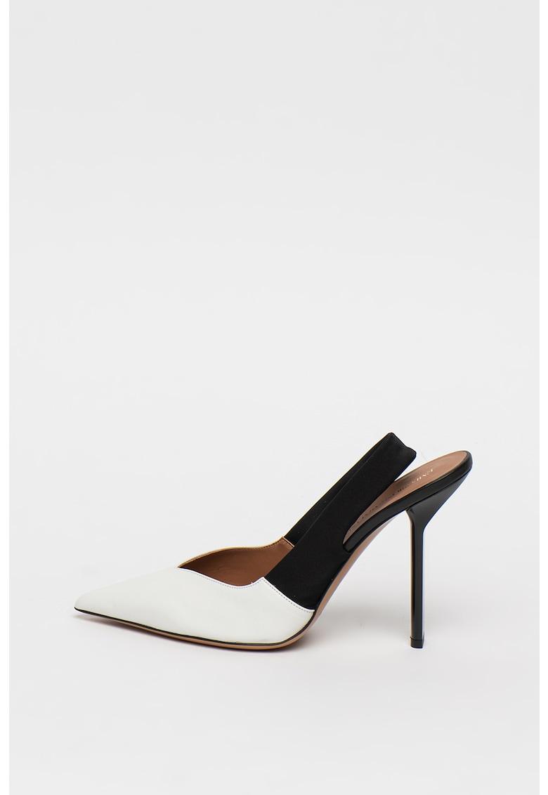 Pantofi din piele cu bareta slingback