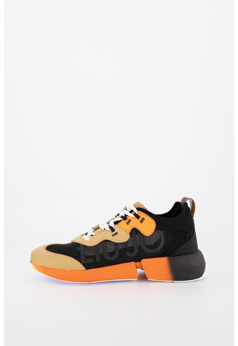 Pantofi sport din plasa cu insertii din piele intoarsa sintetica Yulia