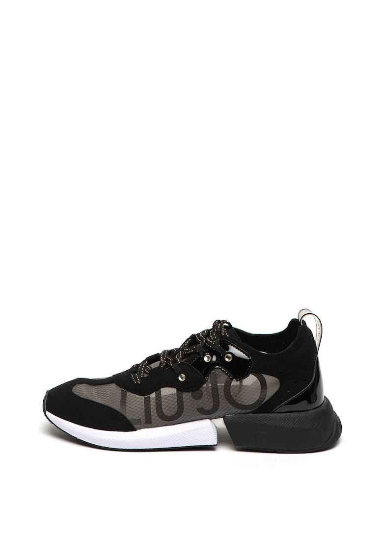 Pantofi sport de plasa - cu garnituri de piele intoarsa ecologica Yulia