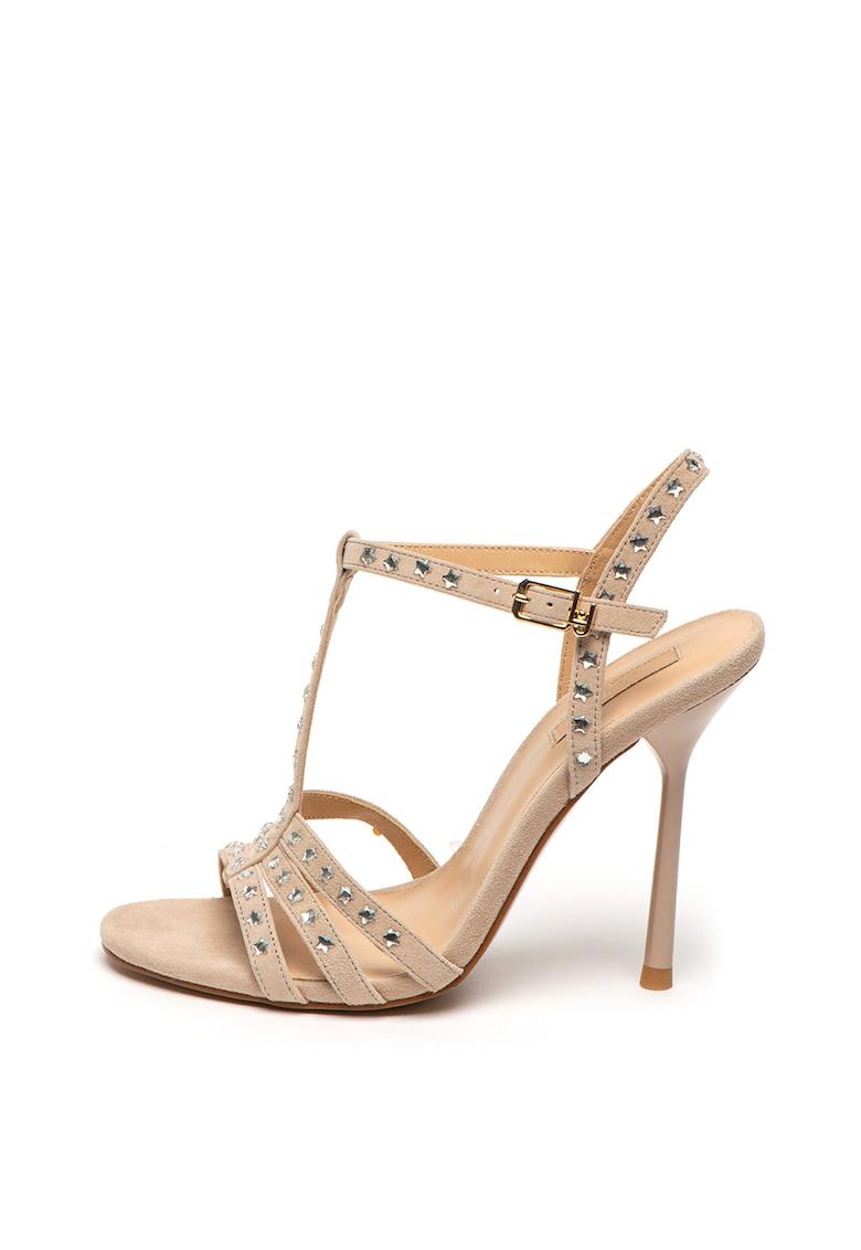 Sandale de piele intoarsa - cu toc inalt Nelly imagine