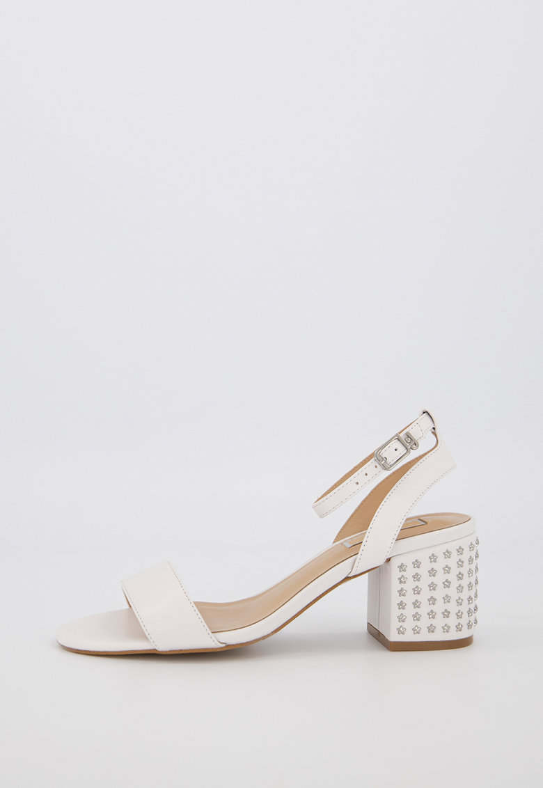 Sandale din piele cu toc masiv Thelma