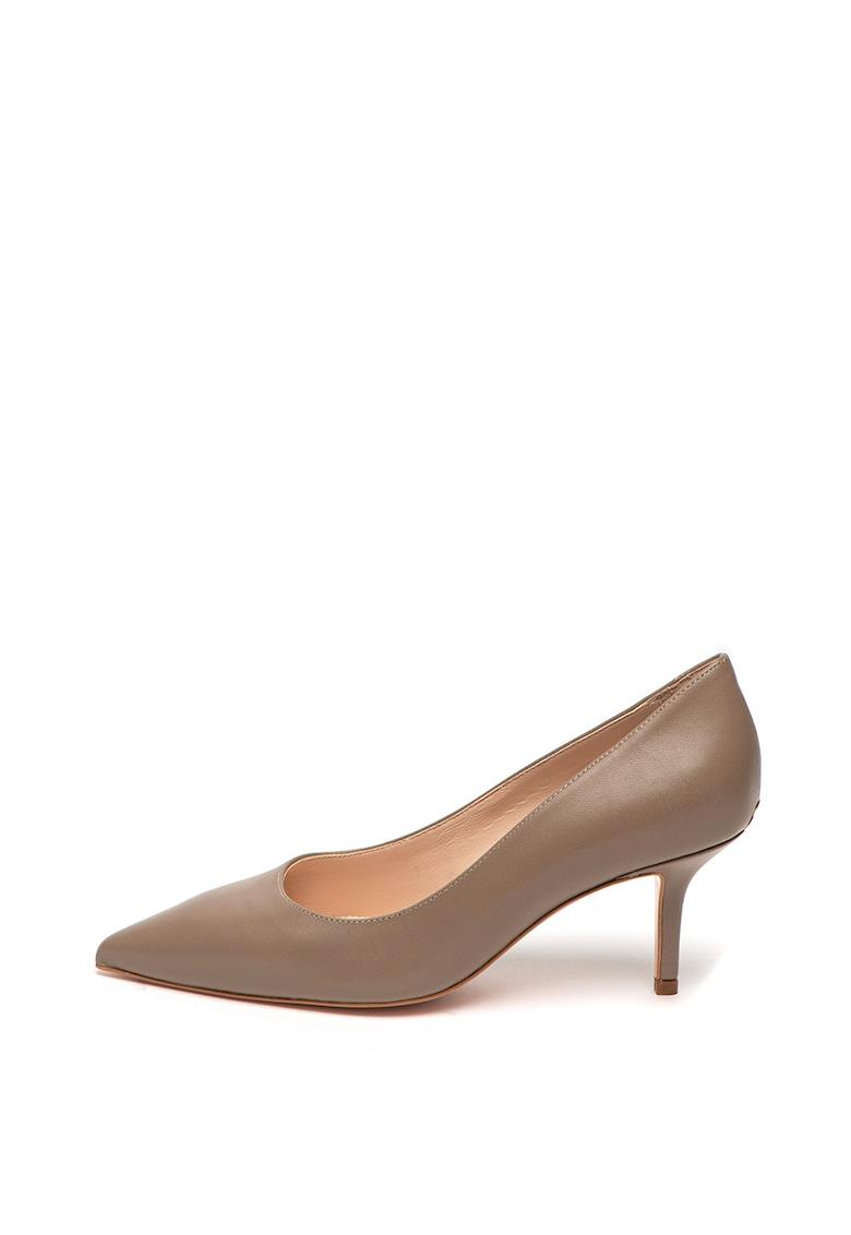 Pantofi din piele cu toc stiletto Audrey