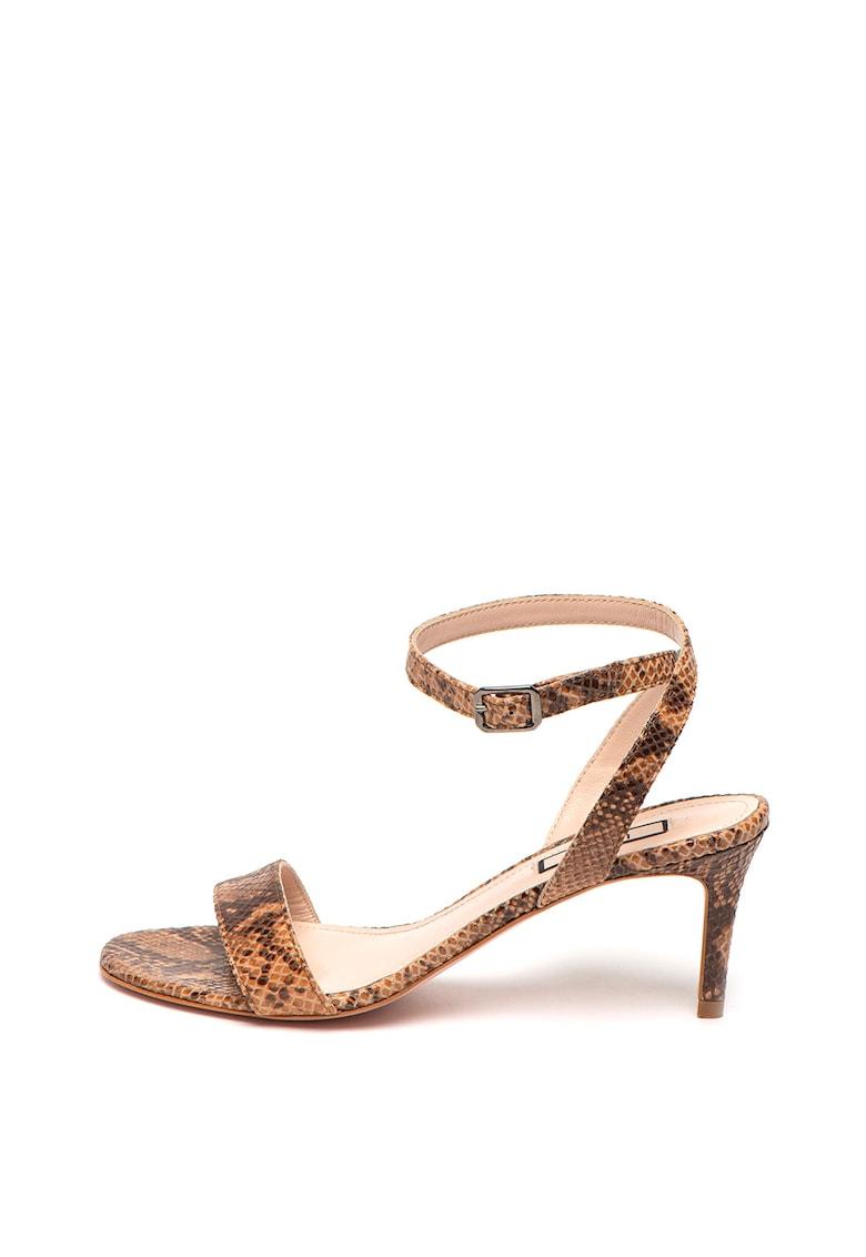 Sandale din piele intoarsa Python