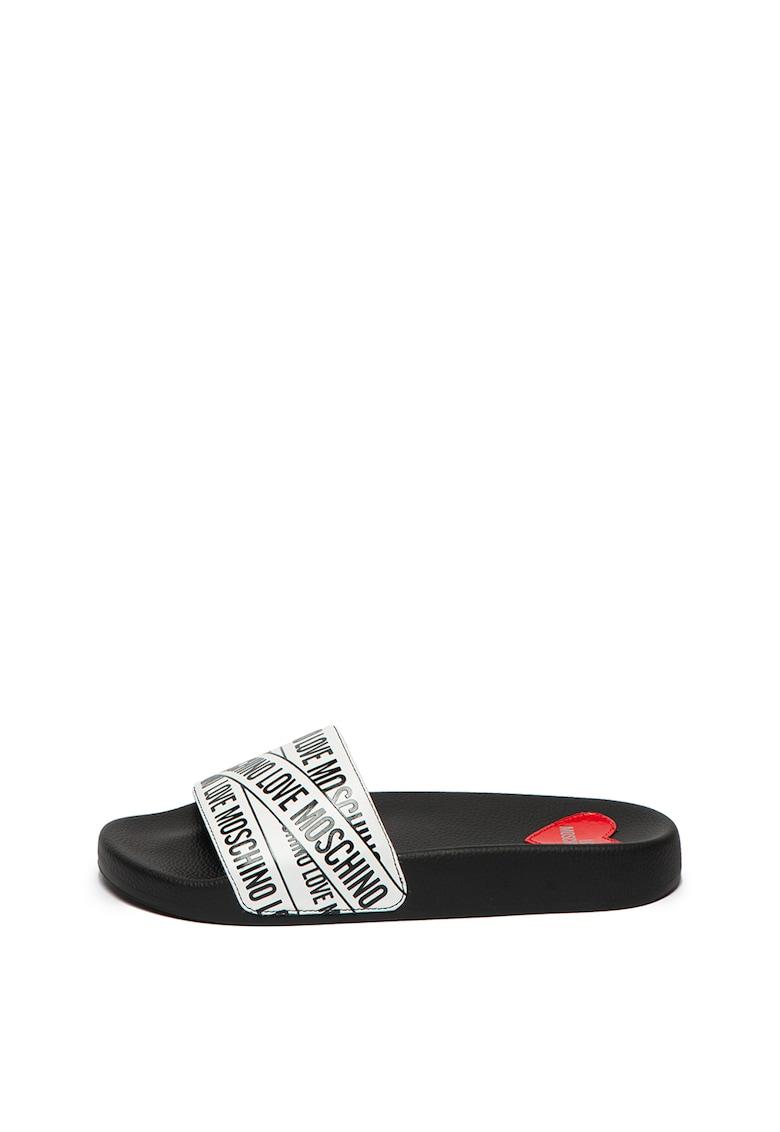 Papuci cu imprimeu logo cauciucat