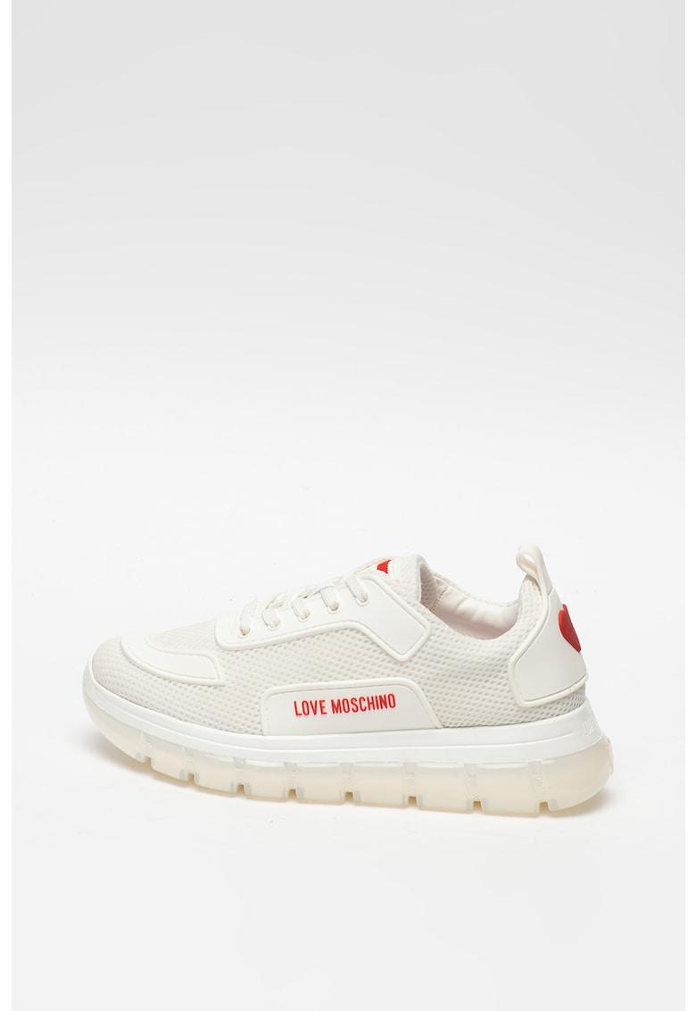Pantofi sport de plasa cu detaliu logo