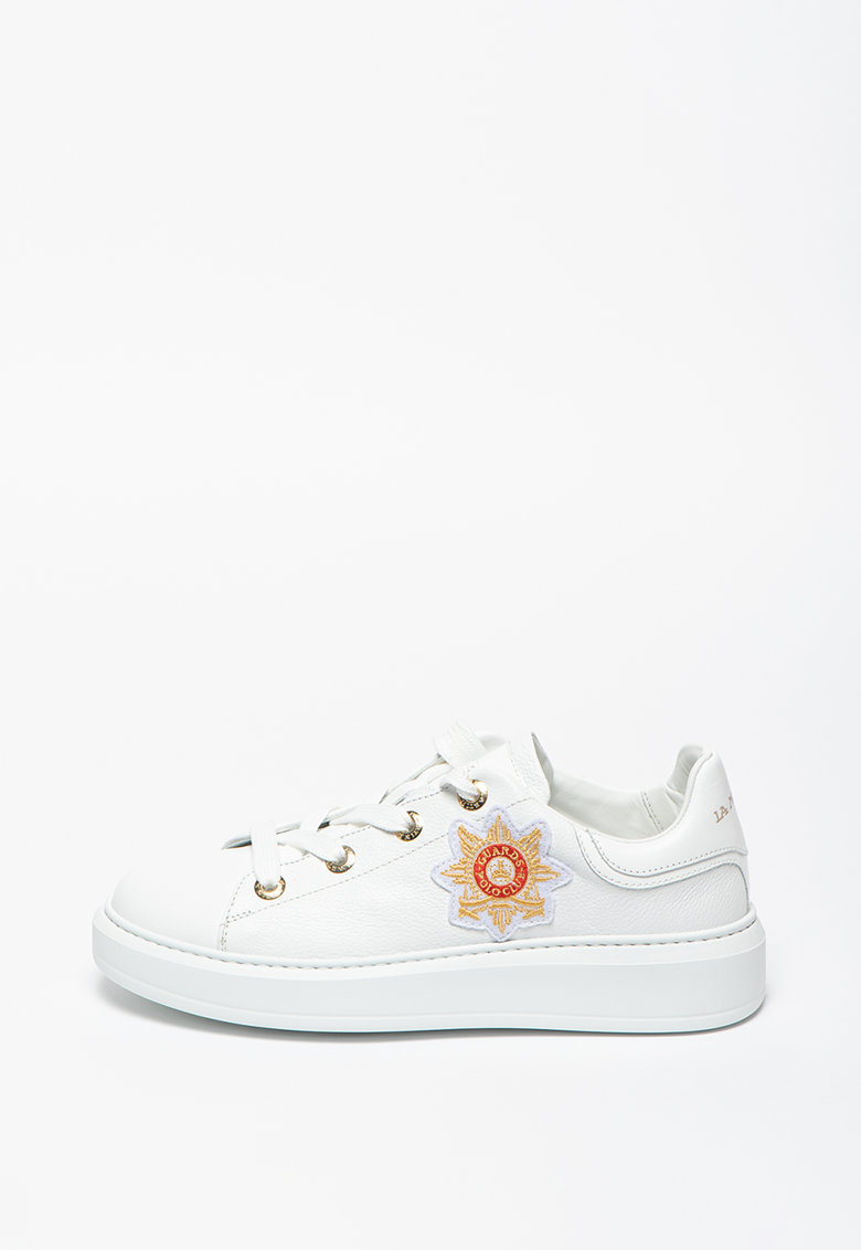 Pantofi sport din piele cu aplicatie