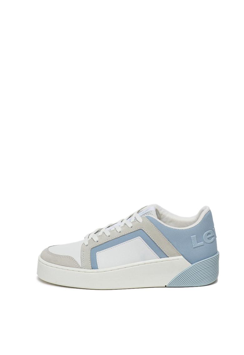Pantofi sport de piele ecologica - cu garnituri de piele intoarsa ecologica Mullet 2.0