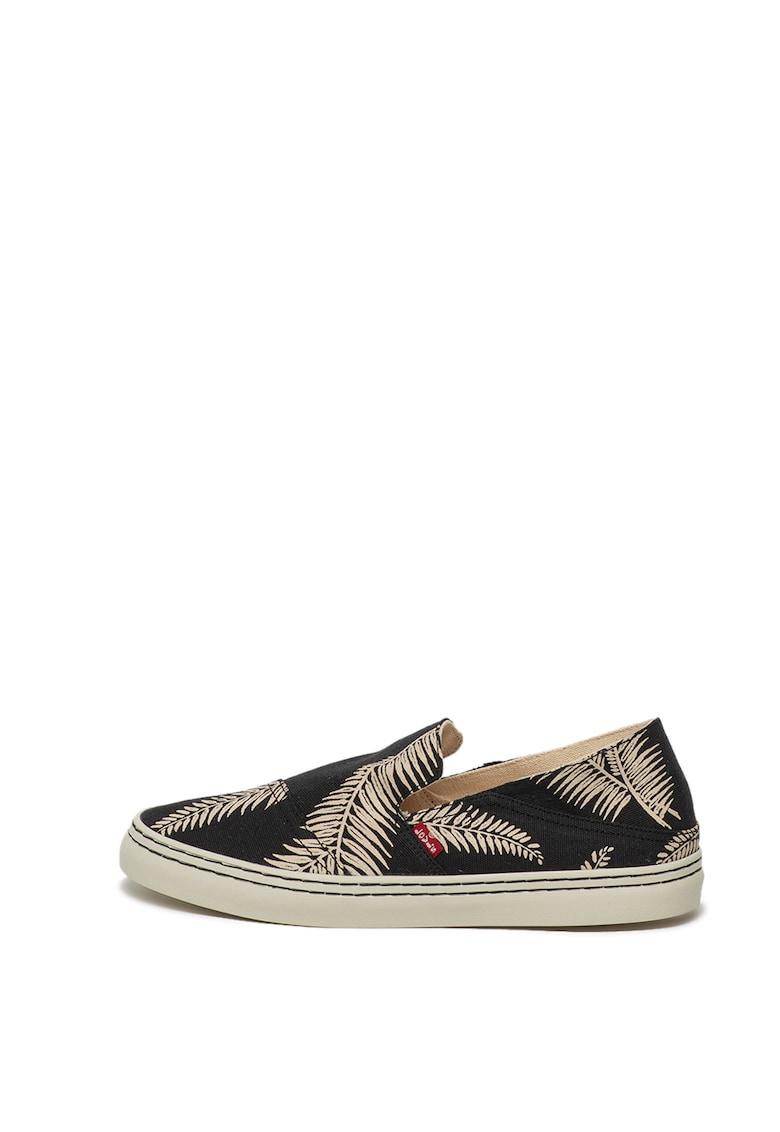 Pantofi sport slip-on cu imprimeu tropical Sherwood 3