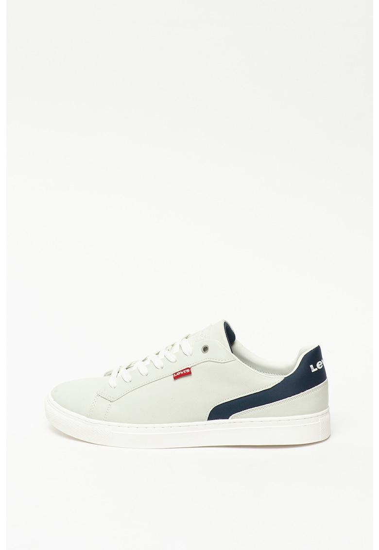 Pantofi sport cu model colorblock si garnituri de dantela 2
