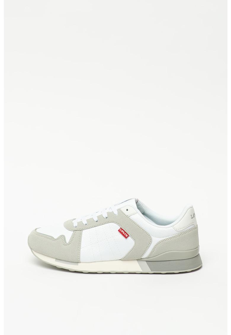 Pantofi cu insertii din piele intoarsa sintetica Webb 1