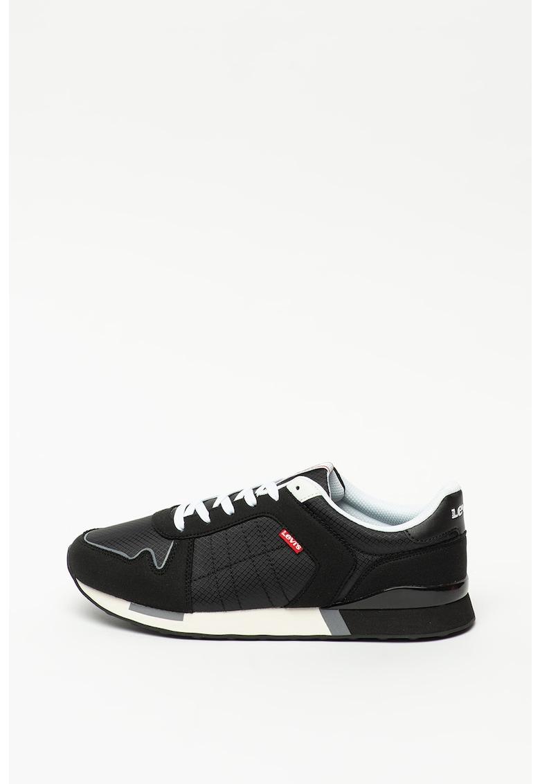 Pantofi cu insertii din piele intoarsa sintetica Webb imagine promotie