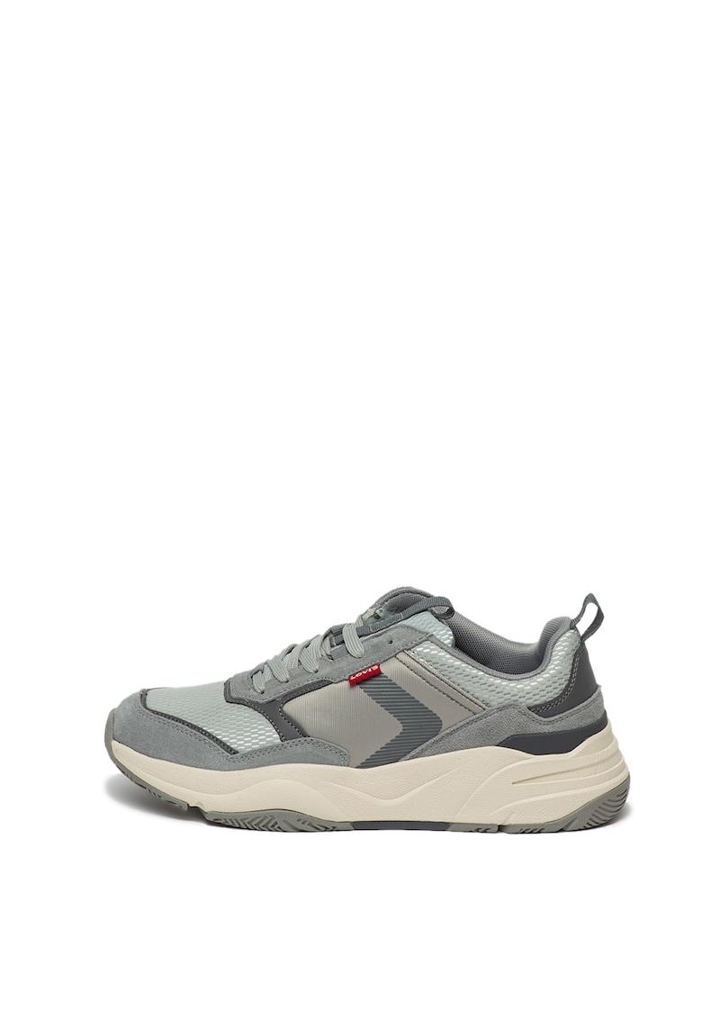 Pantofi sport cu garnituri de piele intoarsa Eastman imagine