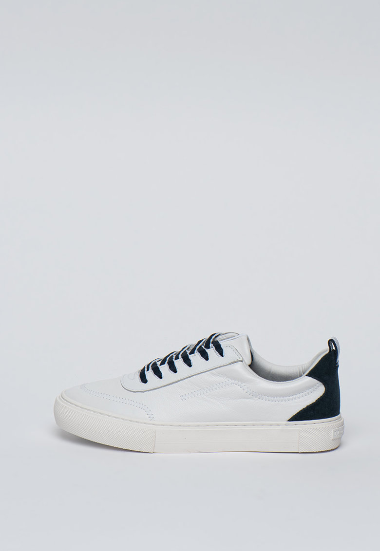 Pantofi sport de piele cu garnituri de piele intoarsa