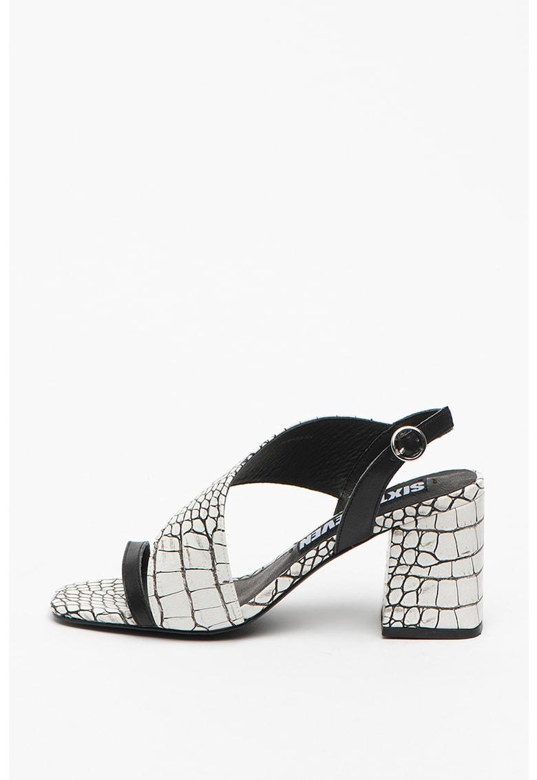 Sandale de piele cu insertii de piele ecologica Nerit sixtyseven fashiondays.ro