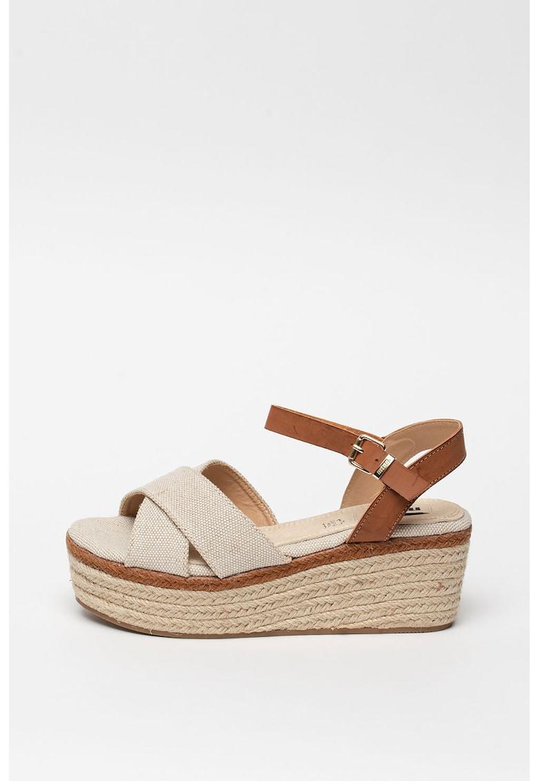 Sandale wedge tip espadrile imagine fashiondays.ro