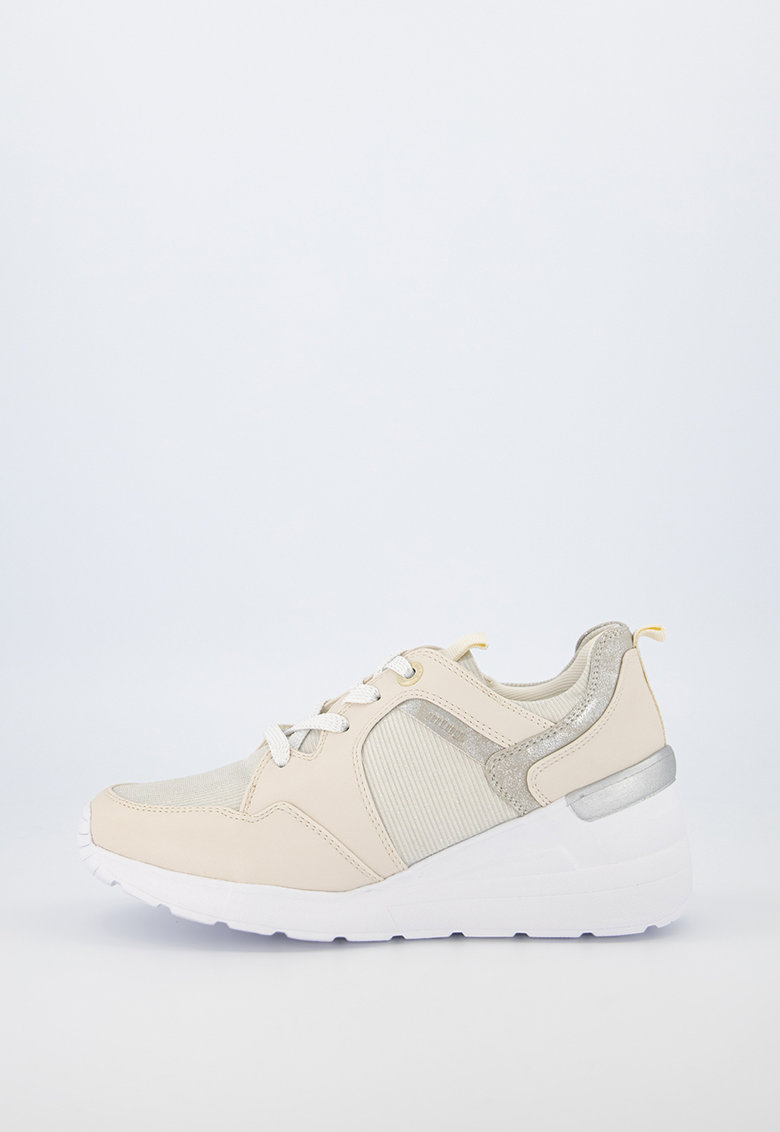 Pantofi sport de piele ecologica cu insertii stralucitoare