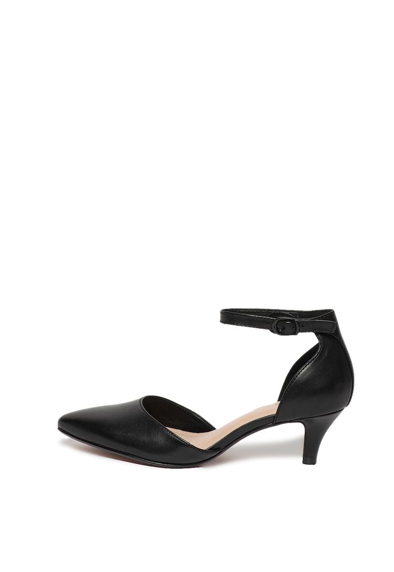 Pantofi de piele cu toc kitten Linvale Edyth imagine fashiondays.ro 2021