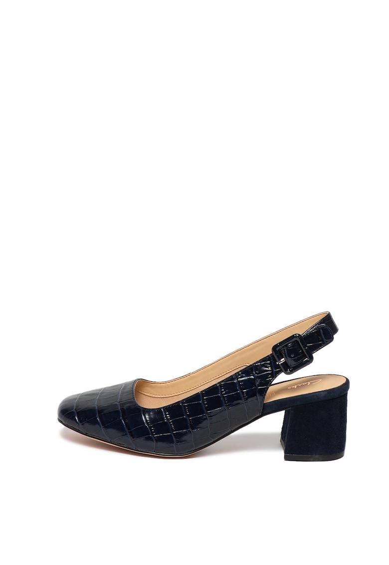 Pantofi slingback cu model piele de crocodil Sheer Violet poza fashiondays