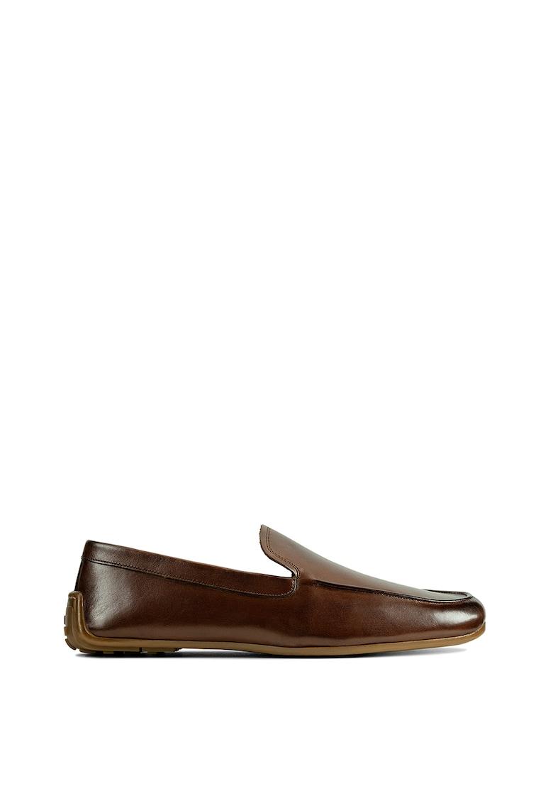 Pantofi loafer de piele cu model uni Reazor imagine