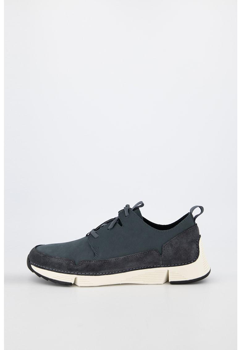 Pantofi sport de piele nabuc si piele intoarsa - cu branturi detasabile Tri Solar imagine