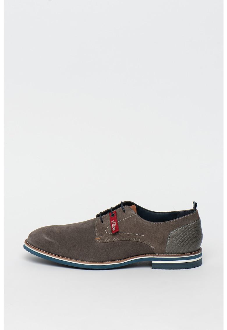 Pantofi derby de piele intoarsa de la sOliver