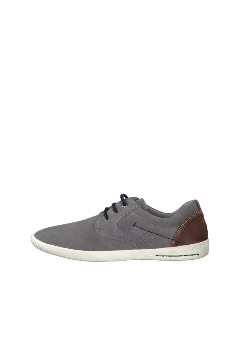 Pantofi sport din piele intoarsa cu varf rotunjit