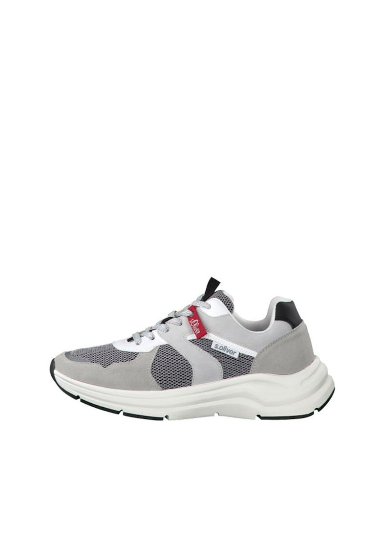 Pantofi sport cu insertii din piele intoarsa