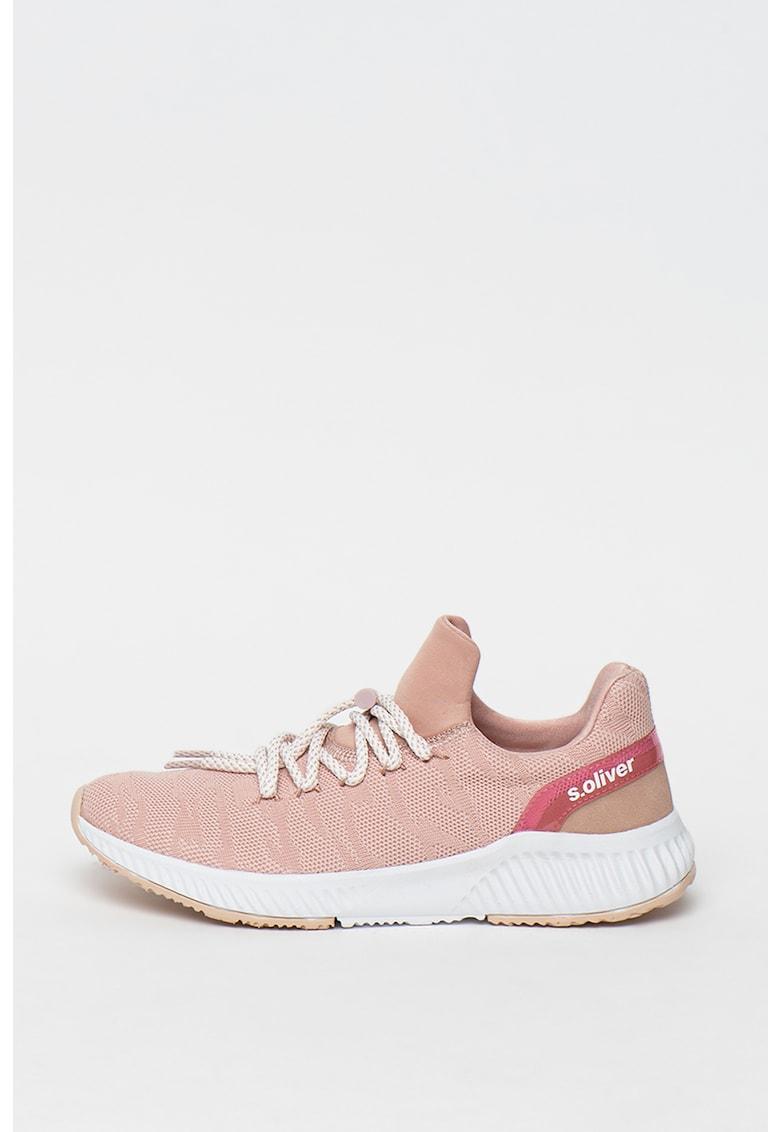 Pantofi sport slip-on de plasa - cu aspect tricotat