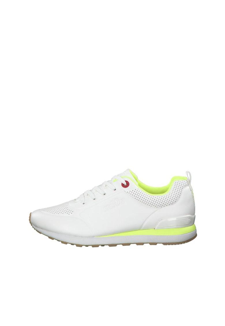 Pantofi sport de piele ecologica - cu perforatii poza fashiondays