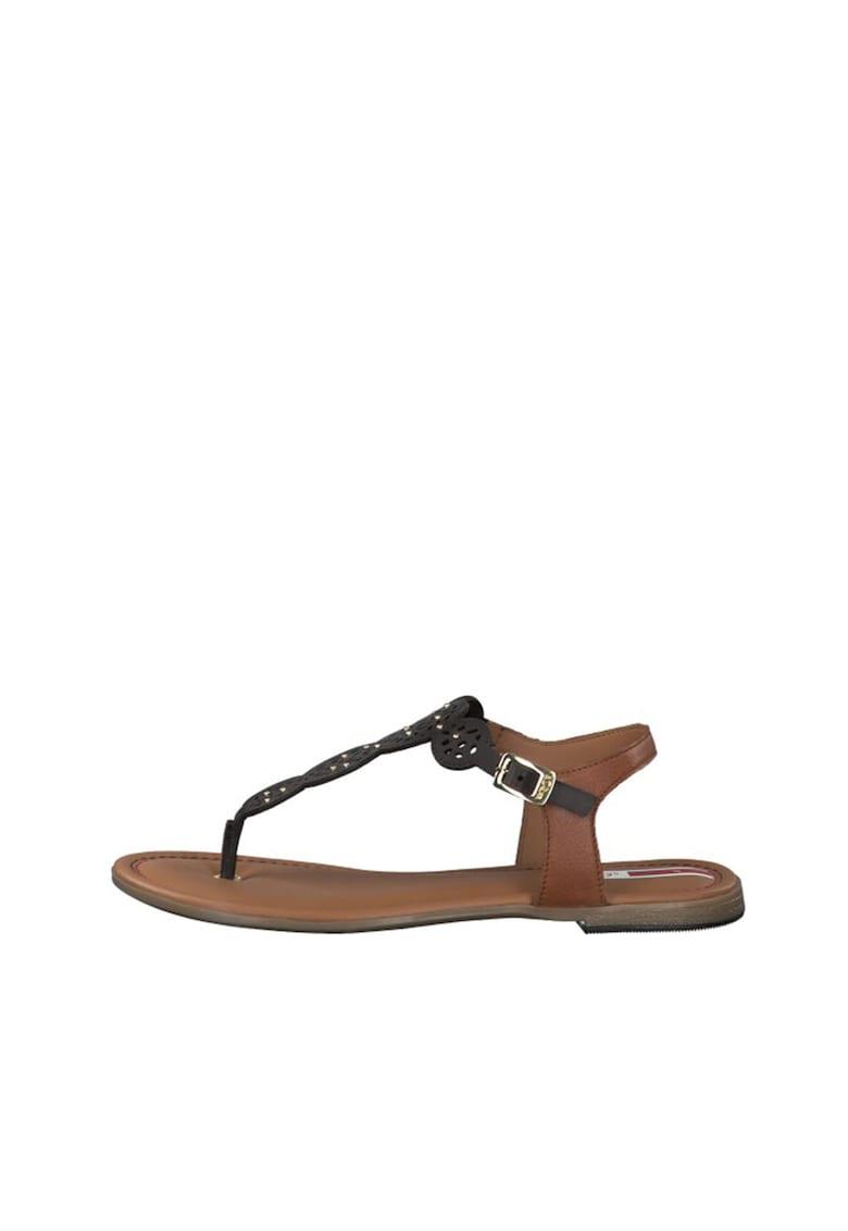 Sandale de piele cu bareta separatoare de la sOliver