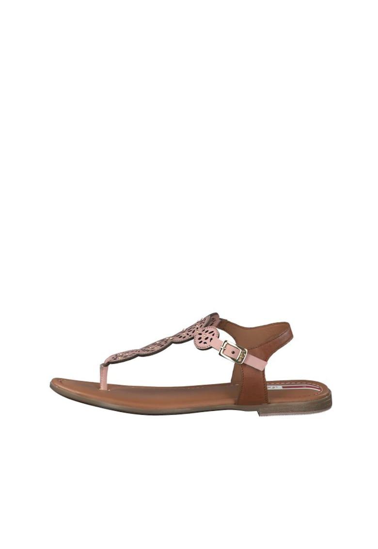 Sandale de piele cu bareta separatoare