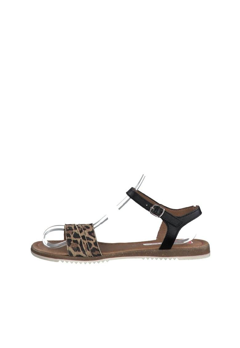 Sandale cu bareta pe glezna si animal print imagine