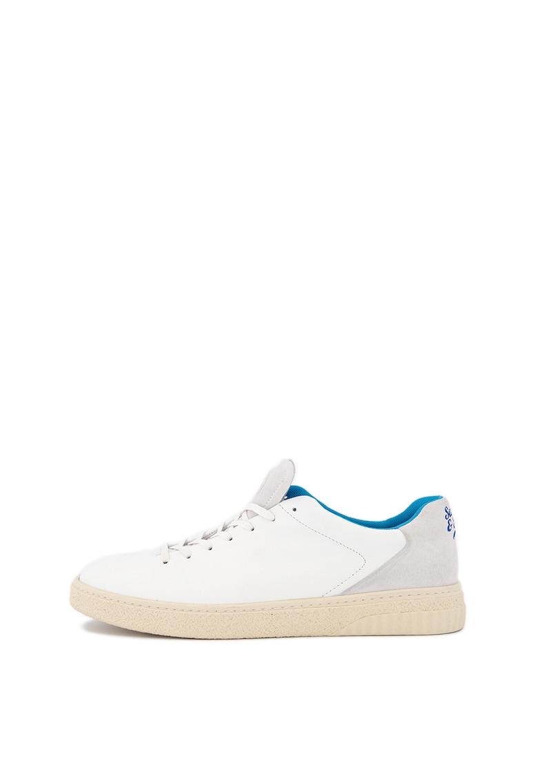 Pantofi sport din piele cu garnituri din piele intoarsa Brilliant 1