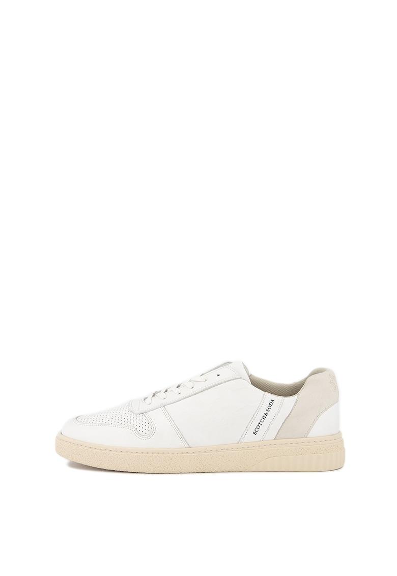 Pantofi sport din piele cu perforatii Brilliant