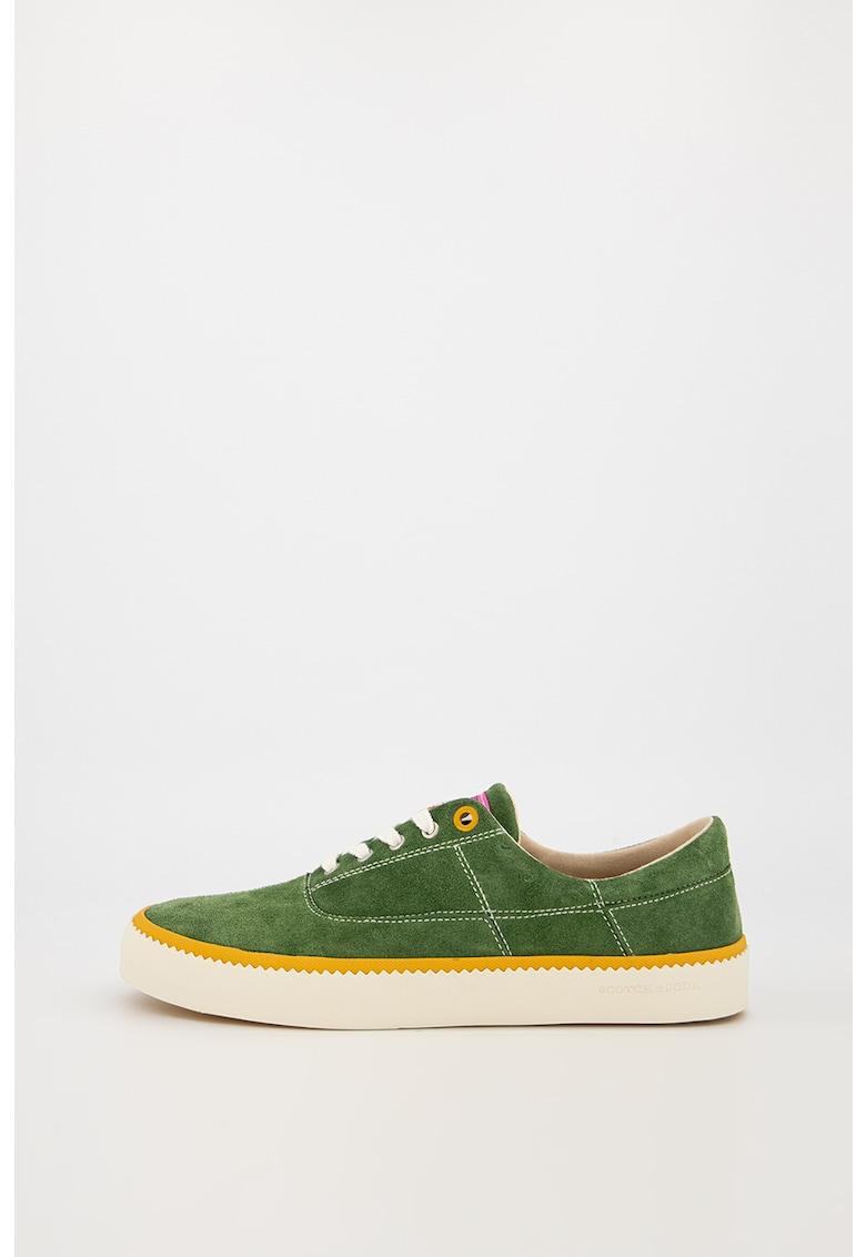 Pantofi sport de piele intoarsa cu garnitura contrastanta Menton 1