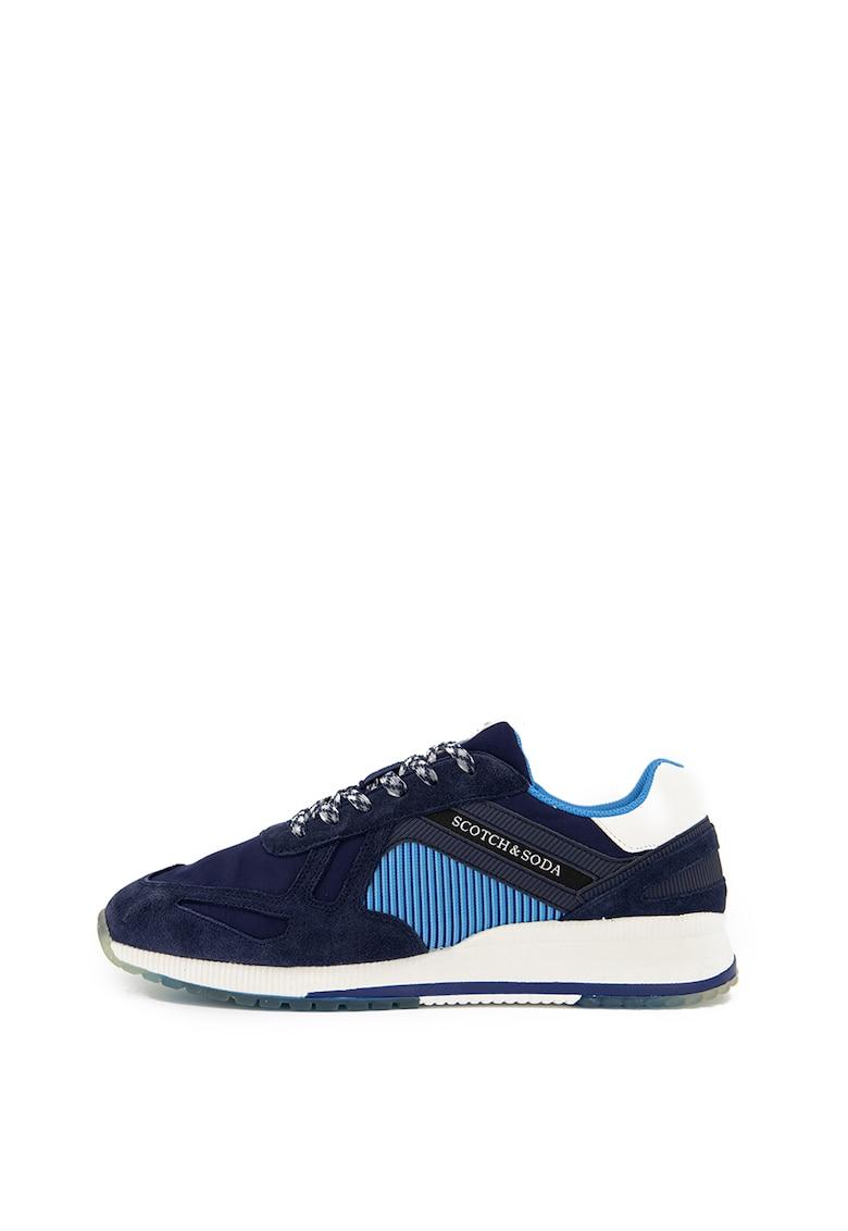 Pantofi sport cu garnituri de piele intoarsa Vivex 1